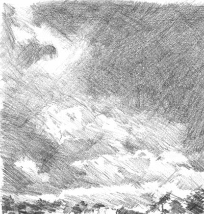 how to draw rain clouds