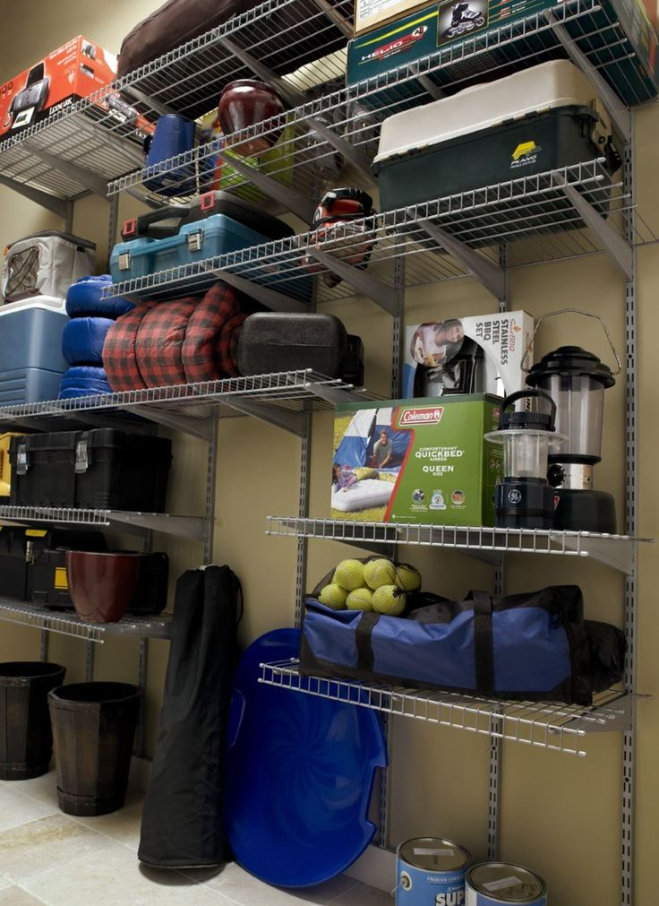 Get Your Miscellaneous Garage Items Up And Off The Floor With Heavy Duty Wire Shelving
