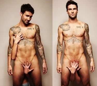 Thank you Russian Vogue.   Adam Levine....things that make you go hhmmmm