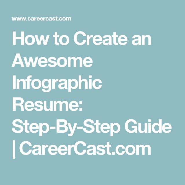 28 best Resume images on Pinterest Infographic resume, Resume - how to make a resume step by step