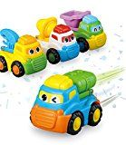 Vehicles Toys Push and Go Construction Trucks Vehicles Cartoon Toy Cars Set for Kids 4 Pcs/Set