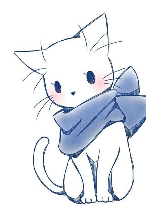 Dessin chat chat en 2019 pinterest - Dessin de chat kawaii ...