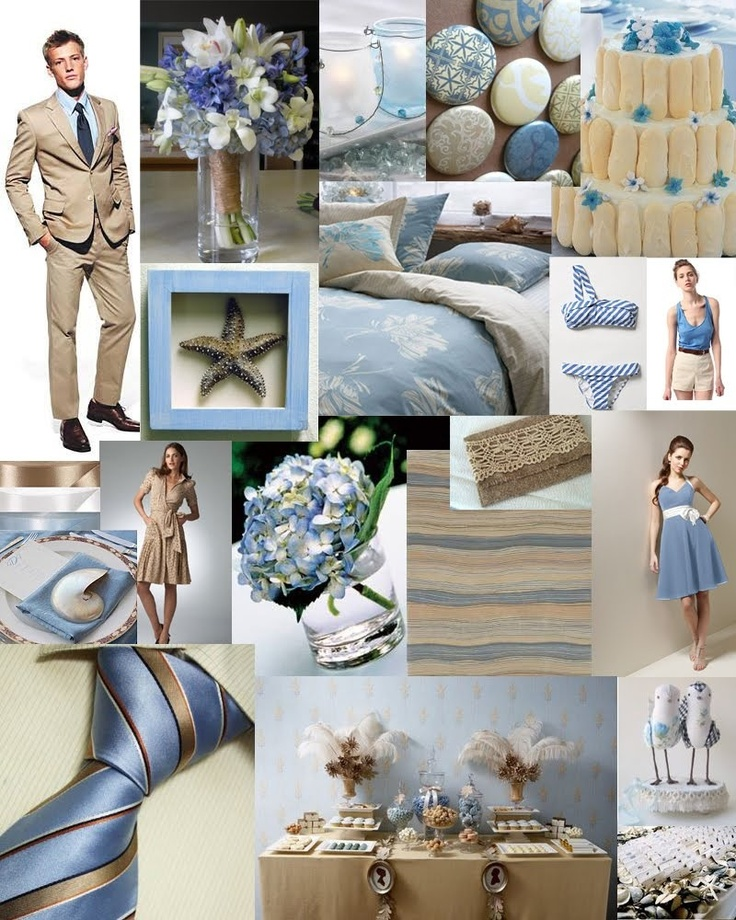 Blue And Sand Brown Wedding Color Scheme