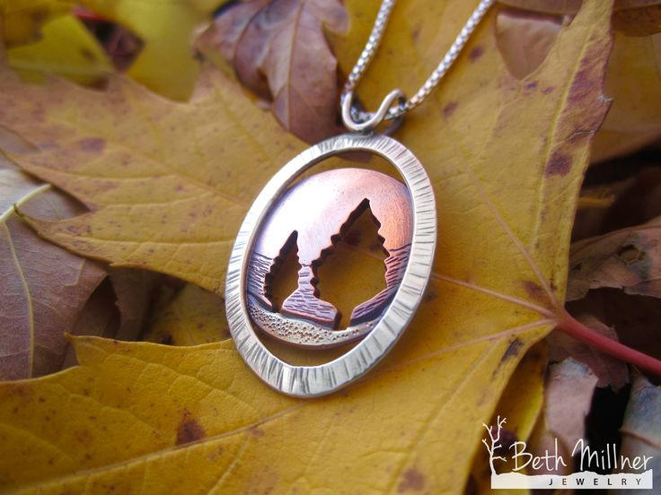 Beautiful handmade nature inspired necklace by Beth Millner Jewelry.