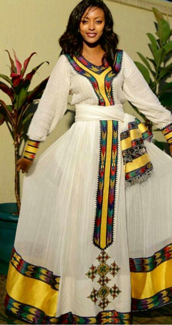 Ethiopian Traditional Dress ~ DKK~ Join us at: https://www.facebook.com/LatestAfricanFashion for Latest African fashion, Ankara, kitenge, African women dresses, Bazin, African prints, African men's fashion, Nigerian style, Ghanaian fashion