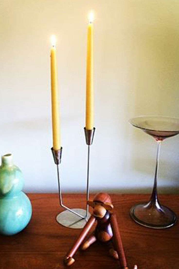 hand-dipped natural beeswax candles from. 30cm Tapers (pair)