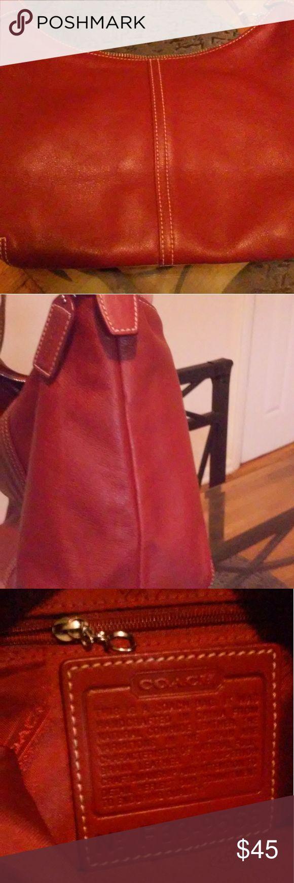 Authentic Coach purse Beautiful burgandy cherry red Coach purse. Excellent condition. clean no wear no damages. Coach Bags Shoulder Bags