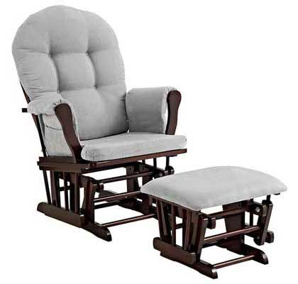 Popular Angel Line Windsor Glider and Ottoman – Espresso with Gray Cushion Awesome - Modern rocker and ottoman Lovely
