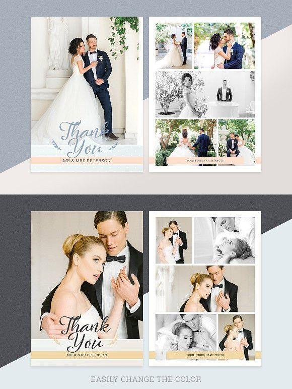Best 25 Thank you card design ideas – Wedding Thank You Card Designs