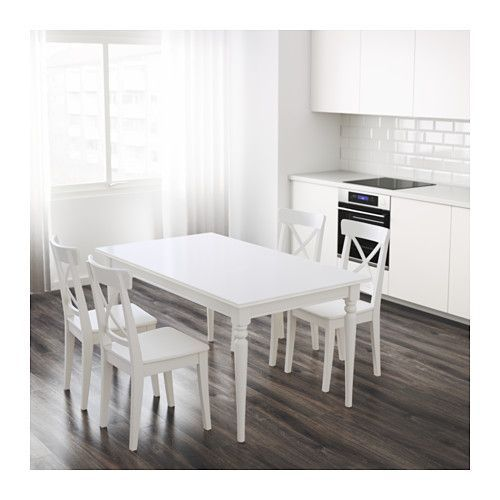 INGATORP Extendable table, white - possible table for craft/homework area in dining room.