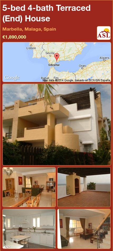 5-bed 4-bath Terraced (End) House in Marbella, Malaga, Spain ►€1,890,000 #PropertyForSaleInSpain