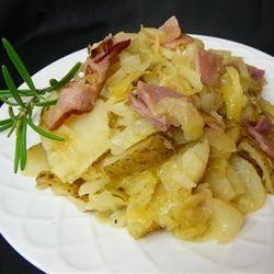Skillet Ham, Cabbage and Potatoes Allrecipes.com