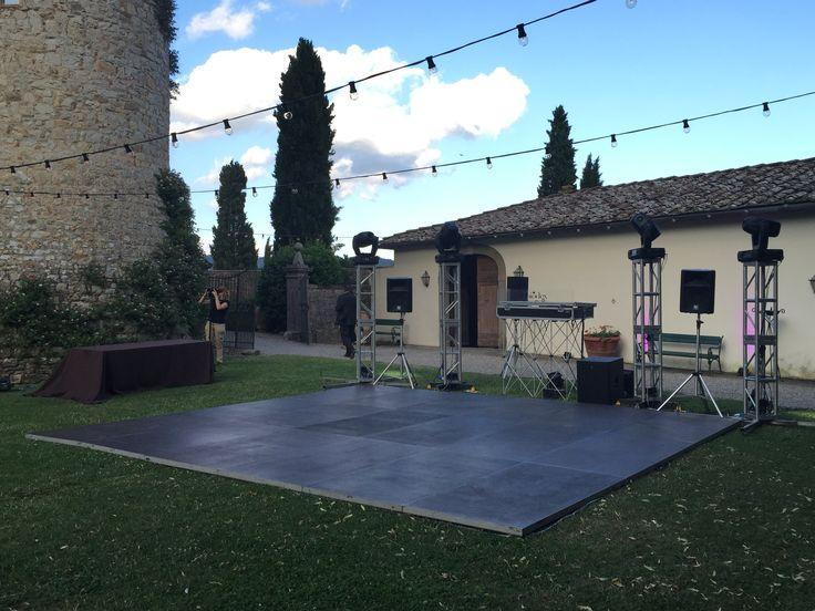 platform - dance floor - Castello di Meleto