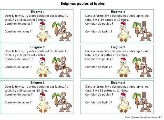 Enigmes multiplicatives, problèmes ouverts cycle 2 et 3 ...