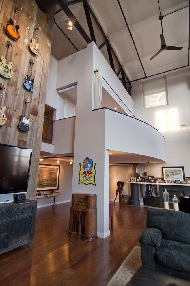 """Idea for AWW's first home.  The sign said """"You must be 18 years old to get tattooed.""""  West Loop Loft by Besch Design"""