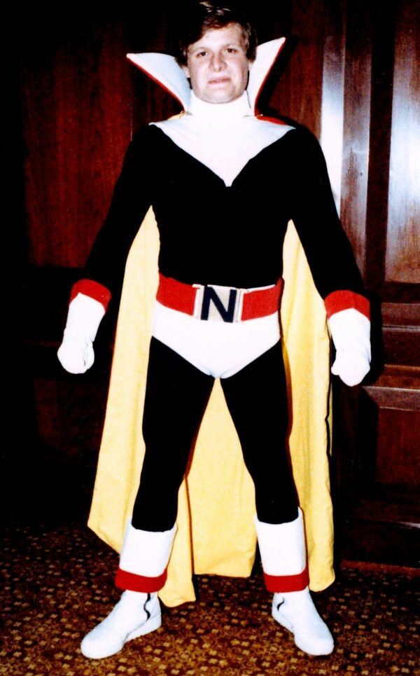 "Me as the Marvel Comics villain ""Count Nefaria."""