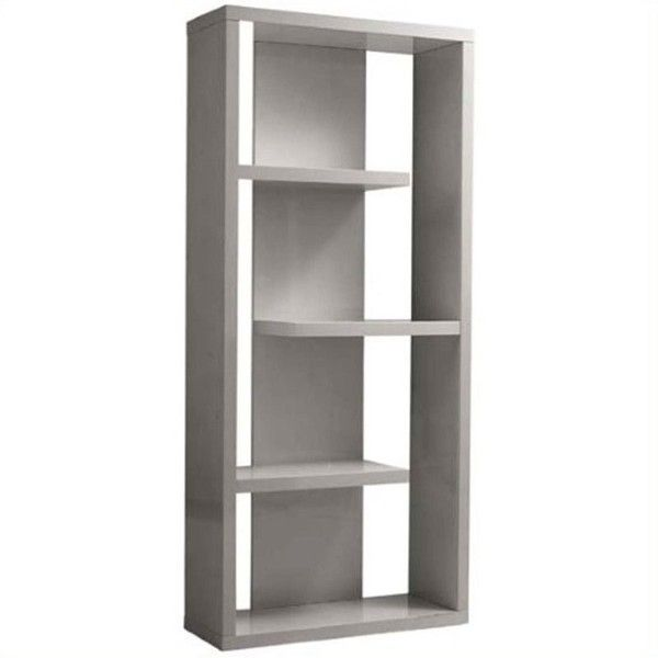 Eurostyle Robyn Shelving Unit ($510) ❤ liked on Polyvore featuring home, furniture, storage & shelves, bookcases, grey, eurostyle furniture, gray furniture, lacquer furniture, grey furniture and grey bookcase