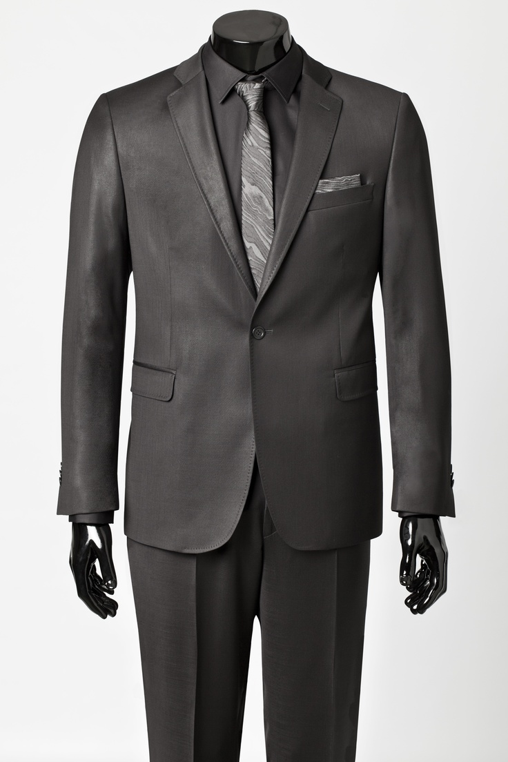 Black and charcoal suit dress yy for Black suit with black shirt and tie
