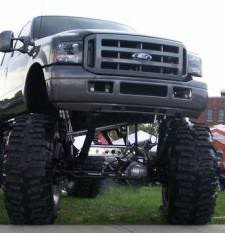 ... thats one jacked up truck haha!! <3