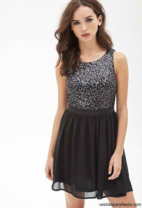 Vestidos juveniles cortos acinturados color negro – 26 - https://vestidoparafiesta.com/vestidos-juveniles-cortos-acinturados-color-negro/vestidos-juveniles-cortos-acinturados-color-negro-26/