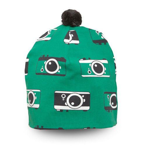 Green NOSH Hat Click! Soft organic cotton