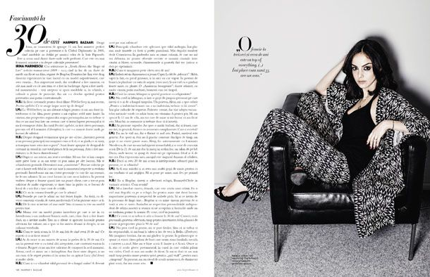 The interview with Irina Marinescu, Romanian fashion designer (http://irinamarinescu.com) for Harper's BAZAAR Romania, May-June 2014 issue, http://www.harpersbazaar.ro/fascinanta-la-orice-varsta/ I met Irina for the first time in 2003 and since then I follow her and I wear her collections. Photo: Oltin Dogaru for Harper's BAZAAR