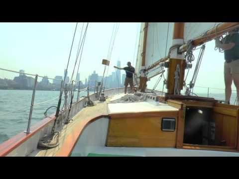Sailing in New York Harbor #sailboat #sailing #newyorkharbor