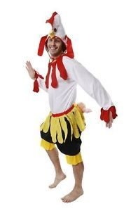ADULT UNISEX CHICKEN COSTUME FARM ANIMAL TURKEY ROOSTER FANCY DRESS OUTFIT
