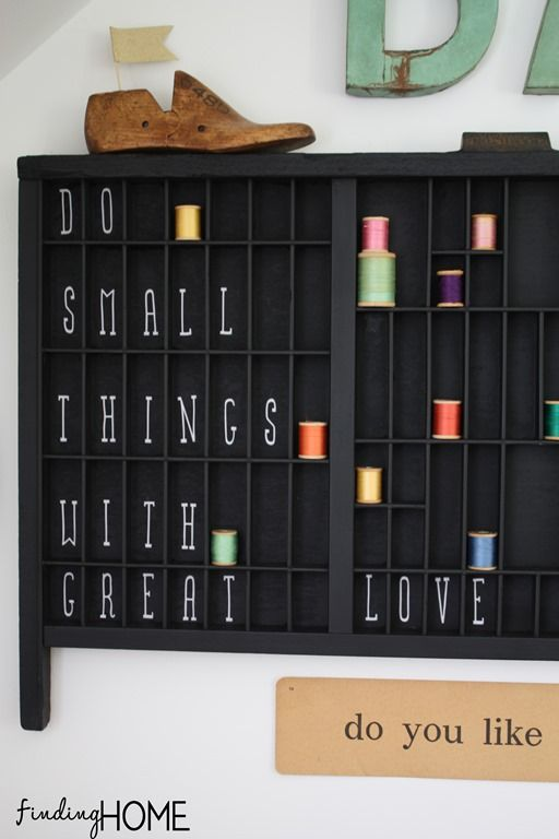 Surround your family with words...  Printers Box Word Art from Finding Home