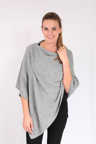 Grey 100% Cashmere Poncho for sale online in South Africa – Pebble&Jack