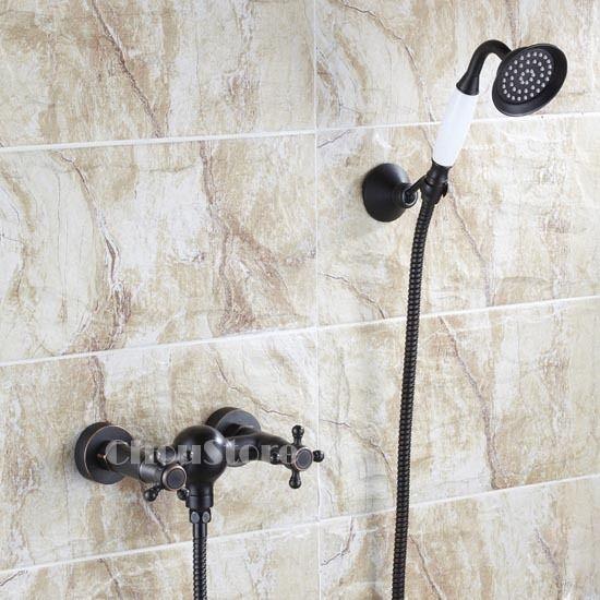 Wall Mount Bathroom Shower Faucet Set Handheld Sprayer Oil Rubbed Bronze Mixer   Home & Garden, Home Improvement, Plumbing & Fixtures   eBay!