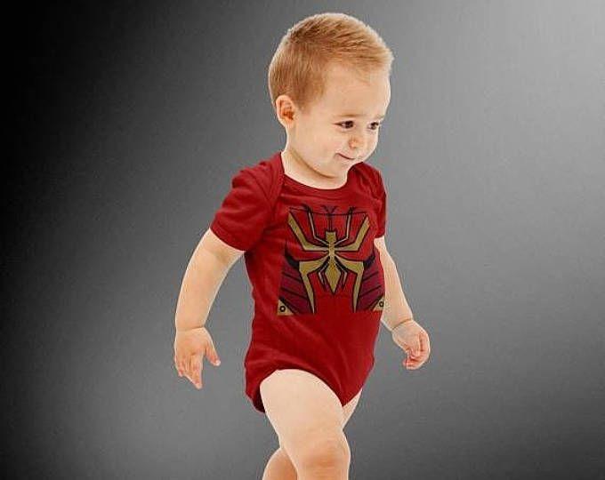 FLASH SALE Iron Spider Costume Onesie | Halloween Costume | Kids Cosplay | Spider-Man | Marvel | Avengers | Baby Shower Gift | Cute Baby Onesie  #ad