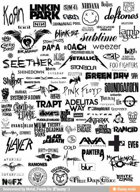I no three days grace, seether, avenge savenfold, papa roach,green day, the Beatles,p.o. d.,shindown,linkin park, and trapt :D