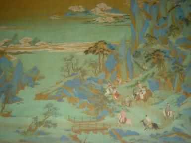 What Was the Mandate of Heaven?: The Xuanzong Emperor of the Tang Dynasty flees into the mountains during the An Lushan Rebellion.