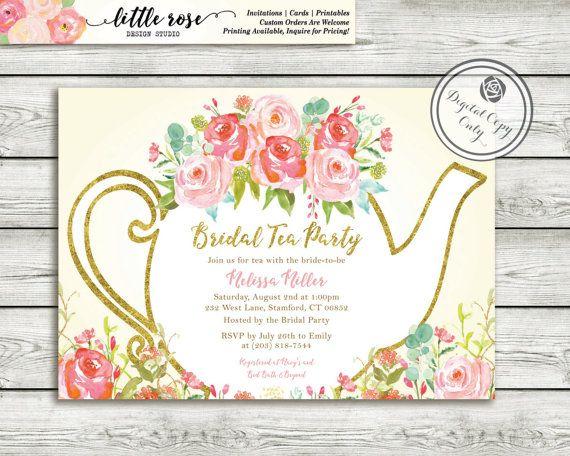 Best 25 Bridal tea invitations ideas – Tea Party Bridal Shower Invites