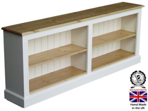 100 Solid Wood Bookcase 6ft Wide White Painted Amp Waxed
