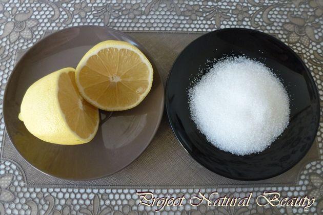 Diy Gezichtscrub. Citroen en suiker.