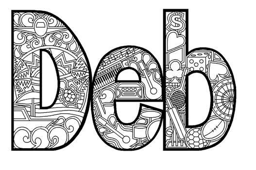 sandra name coloring pages - photo#13