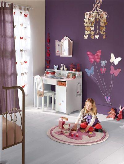 Kinderspiegel mit Schmetterlingen ROSA