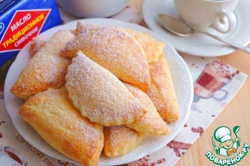 Пирожки-слойки с творогом - кулинарный рецепт