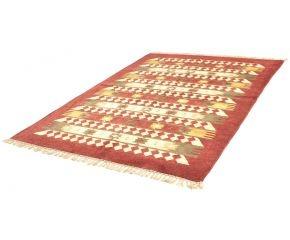 Handgeweven tapijt Kilim Darya 33, rood, 160x220cm van lux lab