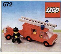 Lego 672 Fire Engine