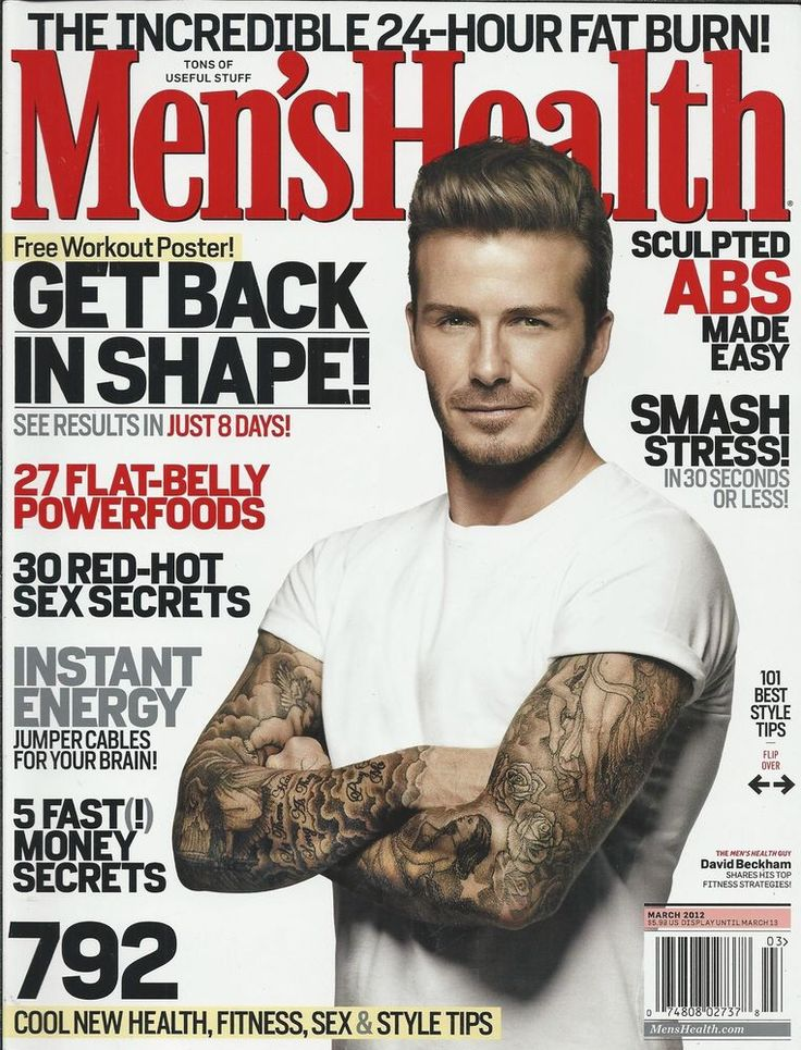 Mens Health magazine with David Beckham Style