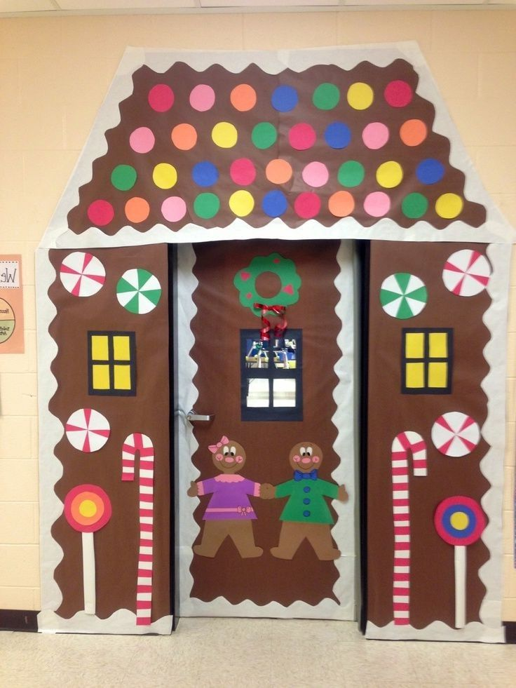 christmas door decorating contest gingerbread house ...