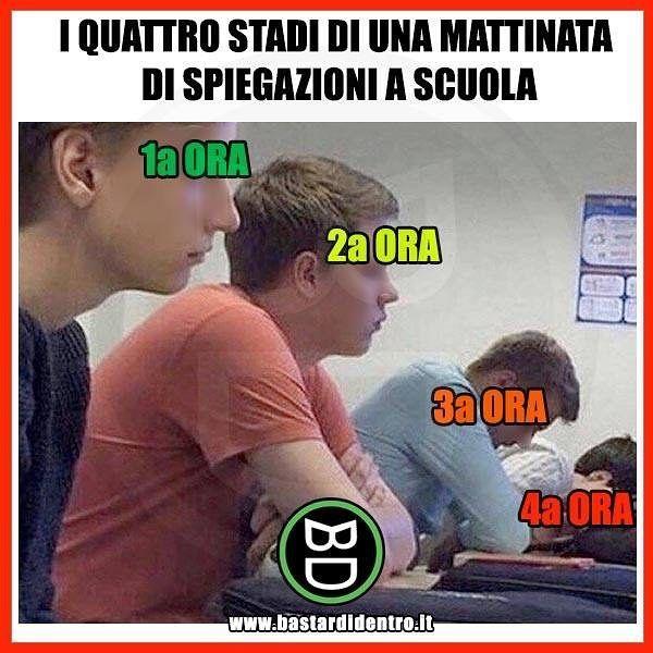 La parabola discendente dell'attenzione a #scuola ... #bastardidentro #perfettamentebastardidentro www.bastardidentro.it