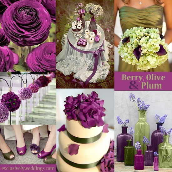 plum wedding ideas | Wedding Color Palette Ideas / Berry, Olive, Plum and Champagne  Wedding Colors