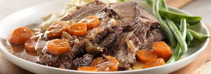 Rôti de bœuf et légumes braisés à la mijoteuse