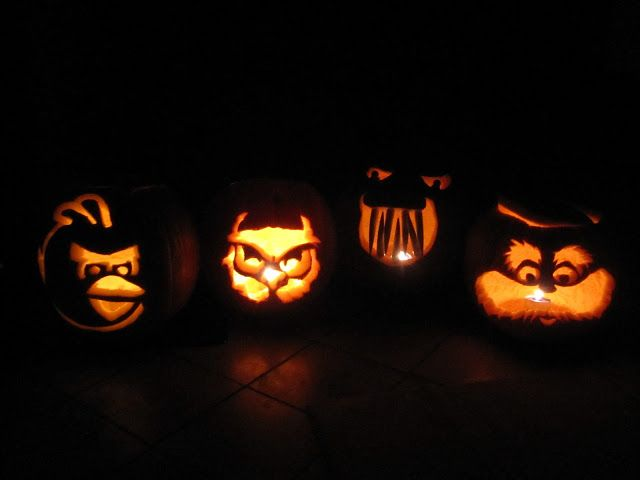 mintagehome- carved pumpkins, angrybirds, lorax, owl