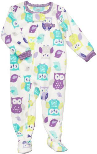 Carter`s Girls OWL Fleece Footed Blanket Sleeper Pajamas - List price: $22.00 Price: $14.99