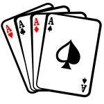 Cuatro ases cartas de póquer clip art